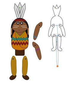 Paper Toys, Paper Crafts, Paper Puppets, Anniversaire Cow-boy, Indian Pow Wow, Thanksgiving Activities For Kindergarten, Indian Baby, Native American Crafts, Indian Crafts