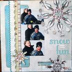 snowflake scrapbook page