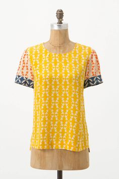 Hummingbird Silk Tee from Charlotte by Charlotte Taylor via Anthropologie