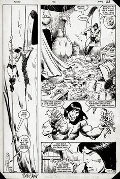 Conan the Barbarian #146 pg 17 by John Buscema and Bob Camp Comic Art