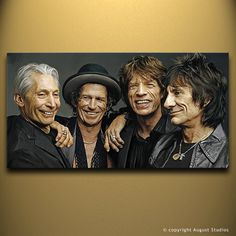 THE ROLLING STONES Original Painting poster by AugustStudiosOnline