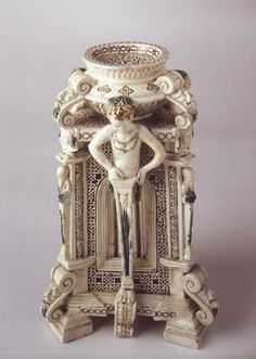 St. Porchaire Standing Saltcellar - attibuted to Philibert de l'Orme and Bernard Palissy, Poitou, France, ca. 1555 - Taft Museum of Art, Cincinnati