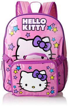 Amazon.co.jp: ハローキティ [Hello Kitty] FAB スターポイント ガールズ 星がちらべられた ランチボックス付 バックパック ピンク 【並行輸入品】: 服&ファッション小物