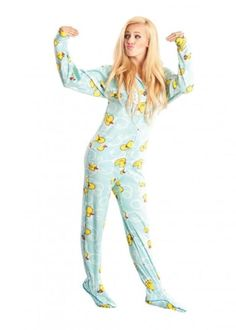 6283bb8f5d843 Stay cute and cozy in the best-selling Blue Duckies Adult Footed Pajamas!