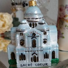 Tuesday's Travels.  Today's passport to Christmas is taking us to the Sacre' Coeur the Basilica of the Sacred Heart if Paris  www.vintagetreasures-ornaments.com  #glassornaments #christmasornaments #passporttochristmas #paris #france #basilica #sacrecoeur #polishornaments #church #cathedral #tuesdaystravels