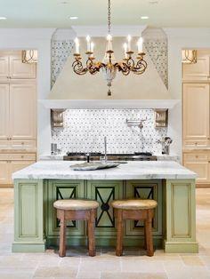 Palm Beach Mansion luxury kitchen with elegant classic elements...