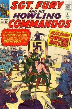 Sgt. Fury and His Howling Commandos #9  with a cover and interior art by Dick Ayers!
