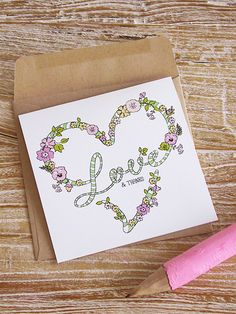 "Freebie: ""Love and Thanks"" Card » Eat Drink Chic"