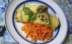 Chickpea crepes stuffed with Indian spiced potatoes and peas - get recipe here: http://www.dailymail.co.uk/wires/ap/article-4286336/Chickpea-crepes-boast-flavor-_-nutrition.html