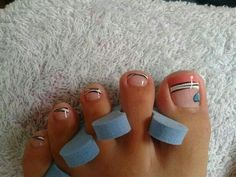 Pies                                                                                                                                                                                 Más Pedicure Nail Art, Toe Nail Art, Mani Pedi, Manicure And Pedicure, Feet Nails, Toenails, Pretty Toes, Pretty Nails, Cute Pedicure Designs