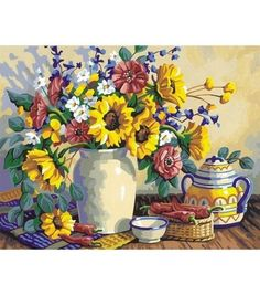 Paint By Number 14''X11''-Sunflower Still Life