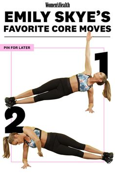 Workout Exercise 10 Abs Moves Emily Skye Swears By For Serious Results - Damn, woman. Ace Fitness, Health Fitness, Woman Fitness, Fitness Plan, Fun Workouts, At Home Workouts, Crossfit, Emily Skye, Ab Moves