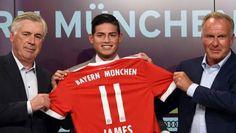 ¡Con orgullo! Así lució James la camiseta del Bayern de Múnich #Deportes #Fútbol