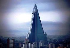 Самое высокое здание в Северной Корее: отель Рюген в Пхеньяне, 105 этажей