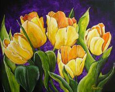 Tulips. Acrylic by fawn ferguson