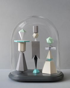 Mark from 'Present and Correct' has crafted three beautiful paper sculptures in a jar. 'Present and Correct' is owned by two graphic designers. It is place for their own designs, things they love by other designers from around the world & vintage items which they discover around europe, and sometimes further afield. It's a showcase for the things they have enjoyed since school. A long-term obsession with stationery, culminated in a constantly evolving store. Paper and office objects which…