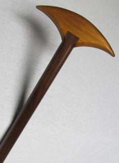 Walking Cane/Walking Stick Handmade of Walnut by steelewoodworking, $46.00