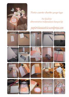 Tutoriel carte boîte pop-up effet garantie! stampin up                                                                                                                                                                                 Plus