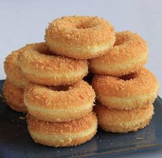 Baked Donut Recipes, Snack Recipes, Cooking Recipes, Snacks, Resep Pastry, Delicious Donuts, Yummy Food, Soft Bread Recipe, Roti Recipe