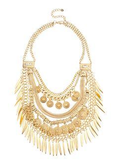 LOVE!!!!!    Shop Prima Donna - Ratatat Sundial Statement Necklace Aged Gold