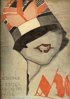 Revista ABC, número 362, ano VII, 23 de Junho de 1927.   Capa de Jorge Barradas
