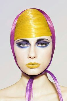 Bright makeup, bright hair