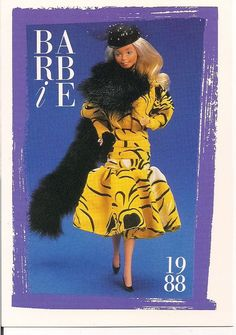 "Barbie Collectible Fashion Trading Card  /"" SuperStar Barbie /""  Evening Gown 1977"