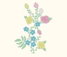 Cinderella Inspired Flowers Floral Skirt Top Embroidery Machine Design by OCDEmbroidery on Etsy