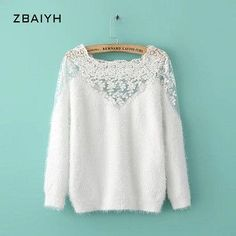 ZBAIYH Spring Fashion Women's Sweaters And Pullovers Knitted Cotton Winter Women Blouse Basic Long Sleeve Jumper Casual Clothes