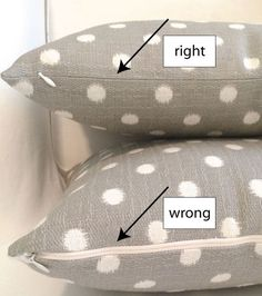 Tutorial for a pillow cover with a very invisible zipper. DIY pillow cover with invisible zipper by Jona Giammalva.