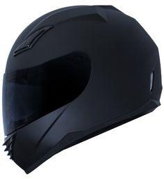 Amazon.com: Duke Matte Black Full Face Motorcycle Helmet DK-140 +FREE Tinted Visor: Automotive