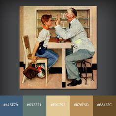 Color Palette: The Optometrist by Normal Rockwell
