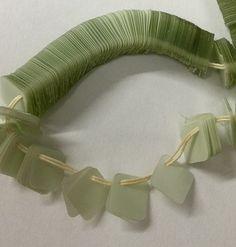 Vintage Beads: Vintage French Paillette Sequins -Mint Green-7 x7mm