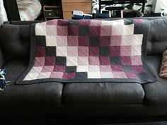 Ravelry: Project Gallery for Generic Mitered Square Blanket pattern by Sue Ann (Suna) Kendall