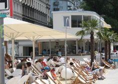 Wien, Tel Aviv Beach, Bild: (c) stadtbekannt. Tel Aviv Beach, Online Magazine, Restaurant Bar, Where To Go, Vienna, Austria, Beverage, Restaurants, Outdoor Decor