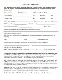 Home Daycare Contract Template New Daycare Contract Family Daycare Contract after Reading the Daycare Contract, Nanny Contract, Daycare Schedule, Roommate Contract, Social Contract, Daycare Themes, Daycare Rooms, Home Daycare, Day Care