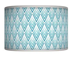 "50cm (20"") Blue Triangles Reto Geometric Handmade Giclee Style Printed Fabric Lamp Drum Lampshade Floor or Ceiling Pendant Light Shade Large Lampshade 275 BeNeLux http://www.amazon.co.uk/dp/B00QEC1CAU/ref=cm_sw_r_pi_dp_kFWZwb0Z11GCK"