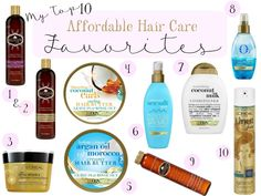 My Top 10 Affordable Hair Care Favorites ~ Makeup Wars