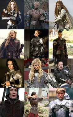Practical Female Armor, click link for full movie and actress credits