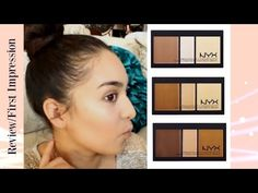 NYX CREAM HIGHLIGHT AND CONTOUR PALETTE || First Impression - YouTube