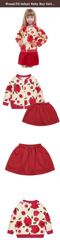 """WensLTD Infant Baby Boy Girl Clothes Floral Coat +Pants Skirt 2PCS Set (10T, red). 100% Brand New And High Quality Fabric Type: Polyester Style:Cute Pattern Type:Floral Suitable for season: Spring,Autumn Clothing Length:Regular Sleeve Length:Long sleeve Outerwear Type: Jacket Package include:1PC Coat+1PC Skirt Size:4T Label Size:3-4 Bust:68cm/26.7"""" Length(Coat):43cm/16.9"""" Length(Skirt):26cm/10.3"""" Height:115CM Size:6T Label Size:5-6 Bust:72cm/28..3"""" Length(Coat):46cm/18.1""""..."""