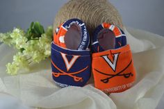University of Virginia Baby Shoes  Mushies Baby by TheKeenBean