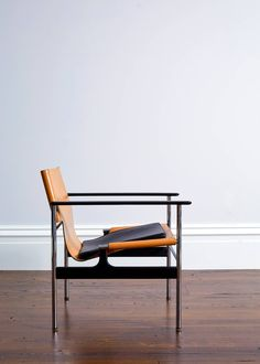 Pollock for Knoll 657 Leather Sling Armchair | From a unique collection of antique and modern chairs at https://www.1stdibs.com/furniture/seating/chairs/