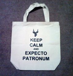 Keep Calm and Expecto Patronum Tote Bag by TheGoodLifebyKatie, $10.00