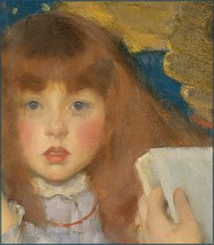 James Jebusa Shannon 'Jungle Tales (Contes de la Jungle)' (detail) 1895 by Plum leaves, via Flickr
