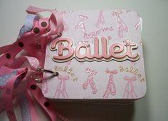 Ballet Mini Album Chipboard Scrapbook Ballet Mini by HampshireRose, $28.00