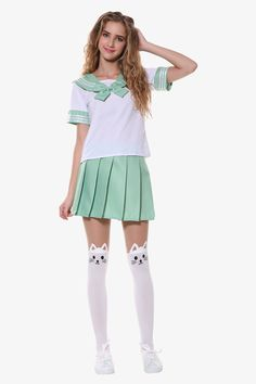 This item is shipped in 48 hours, included the weekends. This Japanese seifuku uniform perfect for the student inspired by Asian culture. The white shirt of this set features a sailor-style collar and