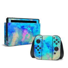 Nintendo Switch Skin - Electrify Ice Blue by Amy Sia Nintendo 2ds, Nintendo Switch Case, Nintendo Consoles, Nintendo Pokemon, Pokemon Super, Geek Mode, The Sims, Nintendo Switch Accessories, Playstation