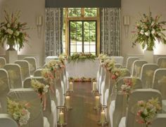 Civil wedding ceremony at Foxhill Manor in Worcestershire.