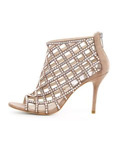 MICHAEL Michael Kors  Yvonne Crystallized Cage Bootie~ so sharp